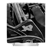 Vintage Baseball Chairs Shower Curtain