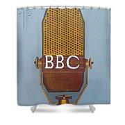 Vintage Bbc Mic Shower Curtain