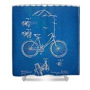Vintage Bicycle Parasol Patent Artwork 1896 Shower Curtain
