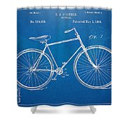 Vintage Bicycle Patent Artwork 1894 Shower Curtain by Nikki Marie Smith