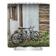 Vintage Bicycles The Journey Shower Curtain