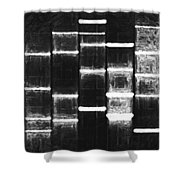 Vintage Black Shower Curtain