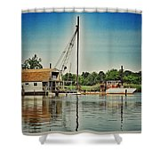Vintage Boats Shower Curtain