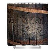 Vintage Bordeaux Wine Barrel Without Its X Shower Curtain