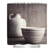 Vintage Bowl With Jug Shower Curtain