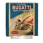 Vintage Bugatti Advert Shower Curtain