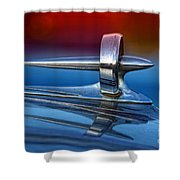 Vintage Buick Hood Ornament Shower Curtain