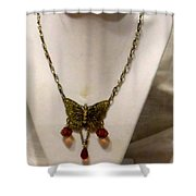 Vintage Butterfly Dreams Necklace Shower Curtain
