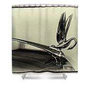 Vintage Cadilac 62, Hood Ornament Shower Curtain