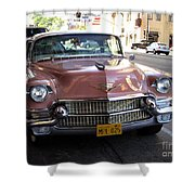 Vintage Cadillac. Luxury From The Past Shower Curtain
