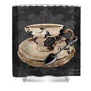 Vintage Cafe I Shower Curtain