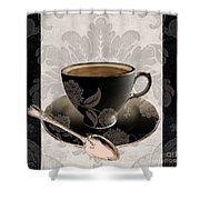 Vintage Cafe IIi Shower Curtain