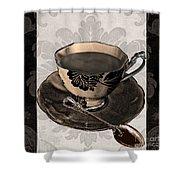 Vintage Cafe Iv Shower Curtain