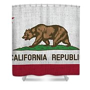 Vintage California Flag Shower Curtain