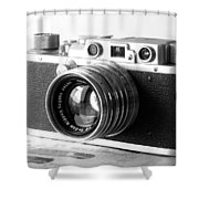Vintage Camera C10b Shower Curtain
