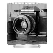Vintage Camera C20h Shower Curtain