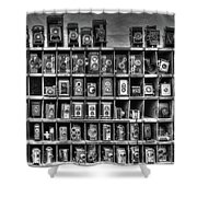 Vintage Camera Matrix Shower Curtain