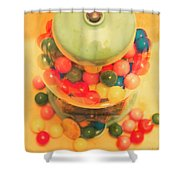 Vintage Candy Machine Shower Curtain