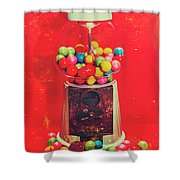 Vintage Candy Store Gum Ball Machine Shower Curtain