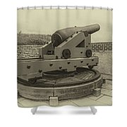 Vintage Cannon At Fort Moultrie Shower Curtain