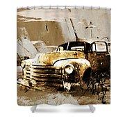 Vintage Car Shower Curtain
