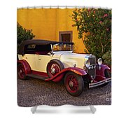 Vintage Car In Funchal, Madeira Shower Curtain