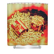 Vintage Carnival Snack Booth Shower Curtain