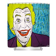 Vintage Cesar Romero's Joker Shower Curtain