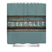 Vintage Chevrolet Tailgate Shower Curtain