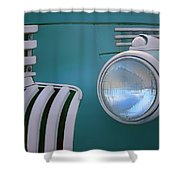 Vintage - Chevrolet Truck - Detail 1 Shower Curtain