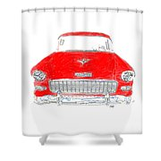 Vintage Chevy Shower Curtain