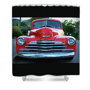 Vintage Chevy Pickup Truck Shower Curtain