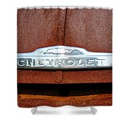 Vintage Chevy Truck Emblem Shower Curtain