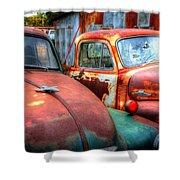 Vintage Chevy Trucks Shower Curtain