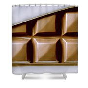Vintage Chocolate Block Macro Shower Curtain