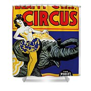 Vintage Circus Rider Shower Curtain