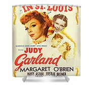 Vintage Classic Movie Posters, Meet Me In St. Louis Shower Curtain