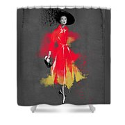 Vintage Coat Dress - By Diana Van Shower Curtain
