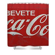 Vintage Coca Cola Sign Shower Curtain