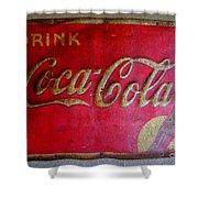 Vintage Coca-cola Sign Shower Curtain