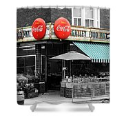 Vintage Coca Cola Signs Shower Curtain