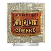 Vintage Coffee On Dictionary Page Shower Curtain