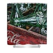 Vintage Coke Square Format Shower Curtain