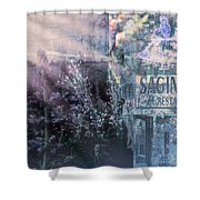Vintage Collage 1 Shower Curtain