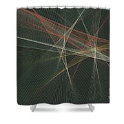 Vintage Computer Graphic Line Pattern Shower Curtain