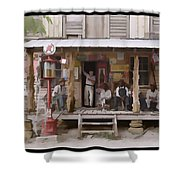 Vintage Country Store Usa - Circa 1939 Shower Curtain