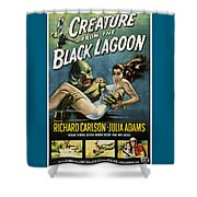 Vintage Creature From The Black Lagoon Poster Shower Curtain