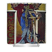 Vintage Cycle Poster Art Nevou Style Omega Sans Chaine Shower Curtain