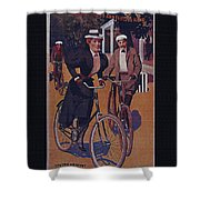 Vintage Cycle Poster March Davis Cycle 100 Dollars Shower Curtain