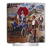Vintage Cycle Poster Prinetti Stucchi Unica Grande Fabbrica Italiana Milano Shower Curtain